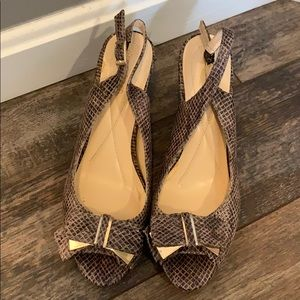 Dress Barn 6.5 Snakeskin Heels